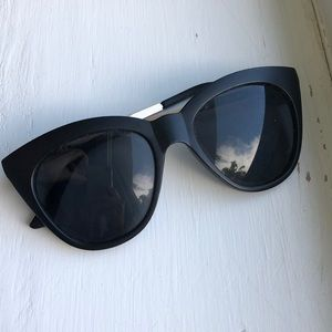 A.J. Morgan Black Cat Eye Sunglasses